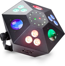 STAGG Multi-effects box with red and green lasers, 3 colour wash, strobe and LED flower