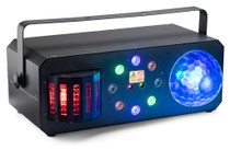 STAGG Multi-effects box with red and green lasers, derby, colour wash and discoball