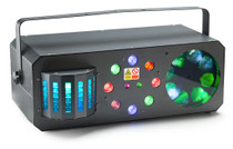 STAGG Multi-effects box with red and green lasers, derby, colour wash and flower gobo