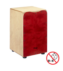 STAGG Standard-sized birch cajón with red front board finish