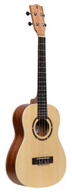 STAGG Traditional baritone ukulele with spruce top and black nylon bag