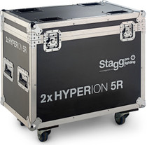 STAGG Wooden flightcase for 2x Hyperion 5R, on wheels