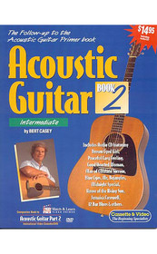 Acoustic Guitar Book 2 Instruction with audio CD Lessons Watch and Learn
