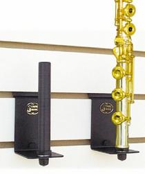 String Swing Flute Holder FOR SLATWALL or screw onto regular wall Black