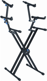 Quiklock 3 Tier Articulating X Keyboard stand