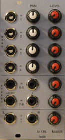 Ladik M-175 Pannable Mixer 4x mono in + 2x stereo in, 1/8_ stereo out