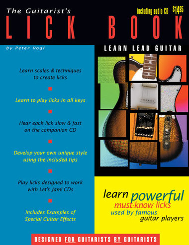Beginning Guitar Guitarist's Licks Book CD Instruction Music Lesson Watch  Learn