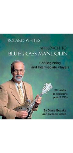 Roland White's Approach to Bluegrass Mandolin Intermediate Book + 2 CD  Lessons