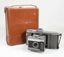Polaroid Land Camera with Leather Case