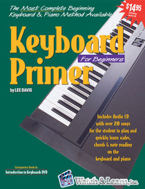 Keyboard Primer Piano Book w CD Beginning Instruction Lessons Watch and Learn