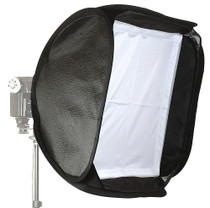 Alzo Porta Flash Mini Softbox W/ Large Tilt Bracket & Ring- Accommodates All Speedlights And Large Flash Lights, Incl. Metz And Quantum