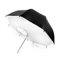 CowboyStudio 43in White Black Reflector Photo Studio Brolly Box