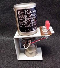 DuKane 3A80A SINGLE Input Transformer Balanced 150-600 ohms - MADE IN USA, SF224 - w/ XLR panel Jack and 9 pin Module socket