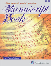 Manuscript Book Blank Staves Music Composition Sheets Watch and Learn