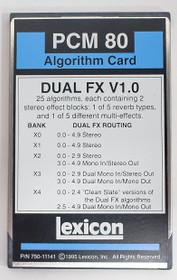 Lexicon Dual FX Card for PCM 80 ALGORITHM Menory CARD