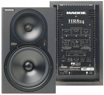 Pair Mackie HR-824 Powered Studio Monitor Speakers Very Low Hours