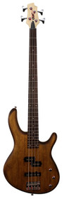 Cort Action PJ Series 4-String Electric Bass Open Pore Walnut w active pickups and eq