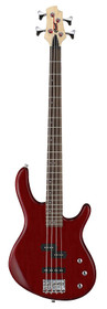 Cort Action PJ Series 4-Sring Electric Bass Open Pore Black Cherry w active pickups and eq