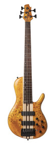 Cort Artisan Series A5PLUSCAOP - 5 String Single Cutaway Electric Bass Poplar Burl top  Swamp Ash Body Amber Open Pore Finish