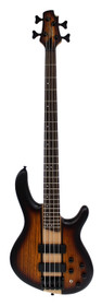 Cort Artisan Electric Bass Guitar C4-Plus ZBMH Mahogany Body with Zebrawood wing & Maple Center