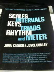 Scales Intervals Keys Triads Rhythem and Meter Music Theory Book Clough Conley