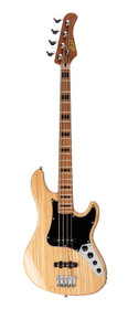 Cort Guitars GB64 4-String Electric Bass Guitar Natural Roasted Maple Neck & FB