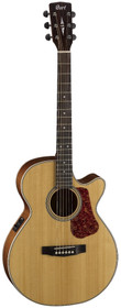 Cort Acoustic-Electric Guitar Luce L100F-NS CE Folk Body Sld Spr Tp Mah B&S Fish Isys+