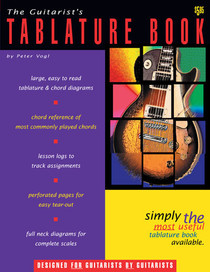 Guitar Tablature Book Guitar TAB plus blank Chord Diagram Sheets Instruction