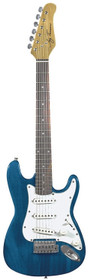 Jay Turser USA Electric Guitar Jr. Double Cutaway Trans Blue 3/4 size child 36""