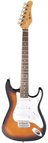 Jay Turser USA Electric Guitar Jr. Double Cutaway Tobacco Sunburst 3/4 size child 36""