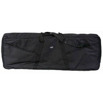 "MBT 44.5"" x 17"" x 6.5"" Padded Keyboard Gig Bag with Straps Black"