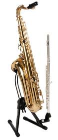 Quik Lok Alto/Tenor saxophone stand BLK sax stand