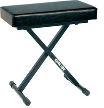 Quik Lok Keyboard Bench deluxe 4 position  adjustable folding (24 W. 12 D. 3.5 Thick) BLK