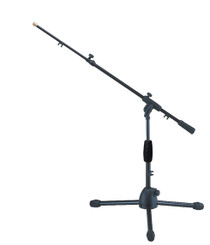 Quik Lok Short Tripod Microphone Stand with Telescopic Boom Arm