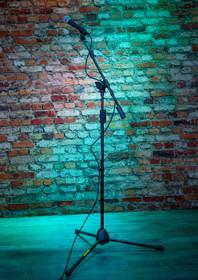 Quik Lok Mic Stand tripod w/telescopic boom black