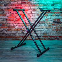 Quik Lok Keyboard Stand Single-Tier X Stand Double-Brace