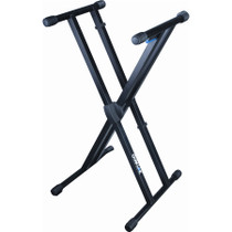 Quik Lok  double brace sgl tier Keyboard stand with trigger lock