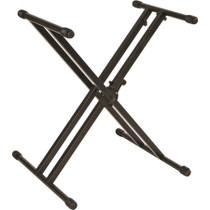 Quik Lok Professional heavy duty, double braced single-tier X keyboard stand