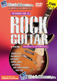 Intro to Rock Guitar instruction DVD Video lessons Watch and Learn