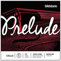 D'Addario PRELUDE CELLO Single String C MED 1/2 J1014-1/2M