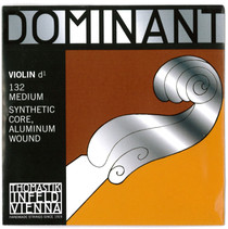 Thomastik-Infeld Dominant Single Violin D String Medium 1/8 size Aluminum Wound Ball End 132-1/8