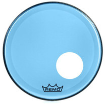 "Remo P3 Colortone Blue 18"" w/Hole Drum Head P3-1318-CT-BUOH"