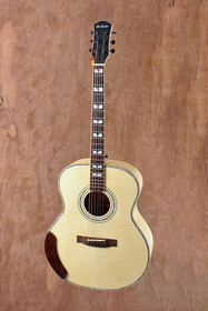 Flamed Maple Acoustic Jumbo Acoustic Guitar w Gotoh Tuners MOP and Abalone Inlay