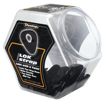 50 Jim Dunlop ERGO LOK Guitar Strap Lock Security Straplock JAR of 50 Bulk 7007J