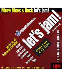 Let's Jam CD More Blues Rock Guitar Backing Tracks Watch and Learn