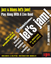 Let's Jam! CD Jazz & Blues Practice Backing Tracks Watch and Learn