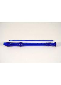Blue Plastic soprano School Recorder translucent flute