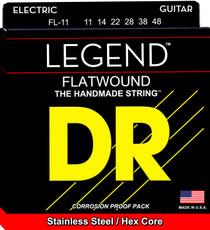 DR Strings FL-11 Legend Polished Flatwound Electric Guitar Strings 11-48