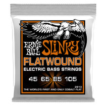 Ernie Ball P02813 Hybrid Slinky Flatwound Electric Bass Strings 45-105