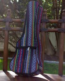 Concert Ukulele Gig Bag Padded Soft Case Multicolor Knit Hawaiian Style